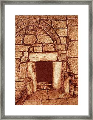 Framed Print featuring the painting The Door Of Humility At The Church Of The Nativity Bethlehem by Georgeta Blanaru