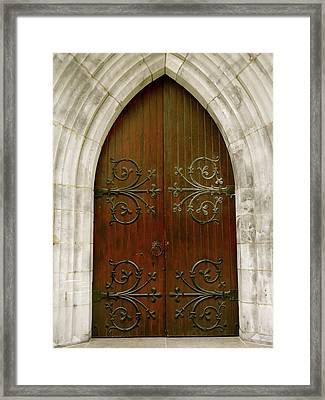 The Door Of Opportunity Framed Print