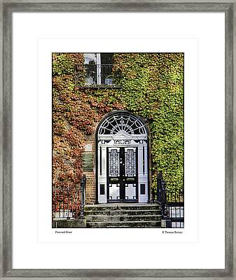 Framed Print featuring the photograph The Door by R Thomas Berner