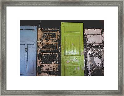 The Doors Framed Print by Colleen Kammerer