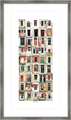 The Doors Of Murano Italy Framed Print