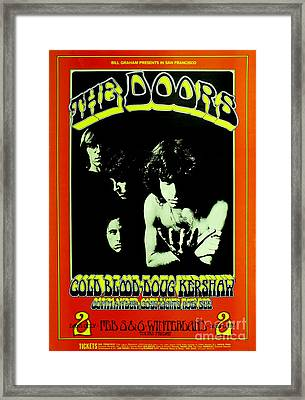 The Doors Poster Framed Print by Pd