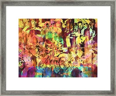 The Doors Psychedelic Tribute Framed Print by Dan Sproul