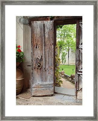 The Doorway Framed Print by Joyce Hutchinson