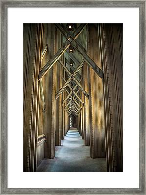 The Doorway Leading To... Framed Print