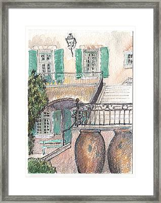 Framed Print featuring the painting The Dora Maar Residency by Tilly Strauss