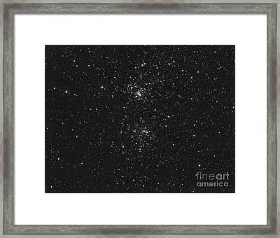 The Double Cluster Framed Print