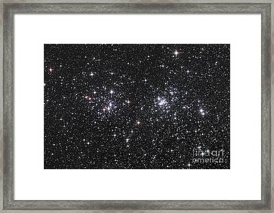 The Double Cluster, Ngc 884 And Ngc 869 Framed Print