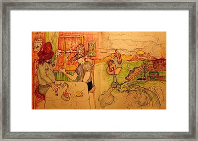 The Double Digit Move Framed Print