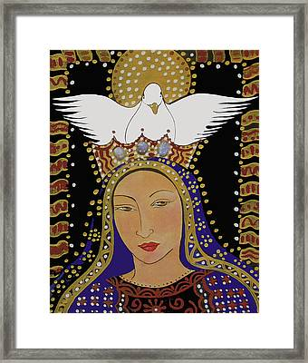 The Dove And The Madonna Framed Print by Christina Miller