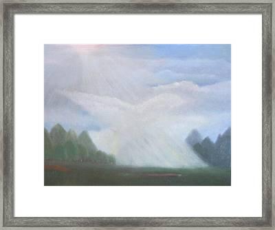 The Dove Cloud Framed Print by Rana Adamchick