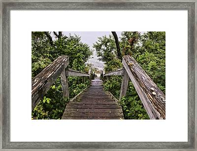 The Down Staircase Framed Print