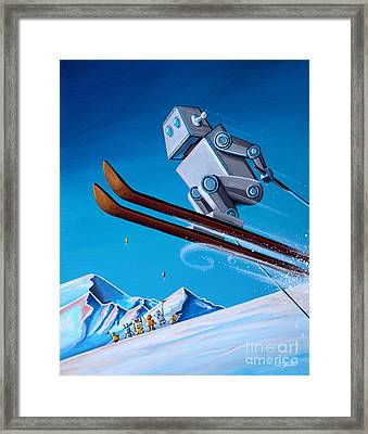 The Downhill Race Framed Print by Cindy Thornton