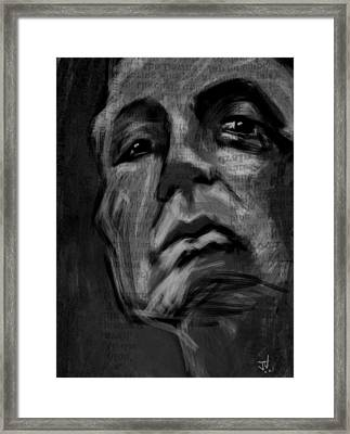 The Downward Gaze Framed Print