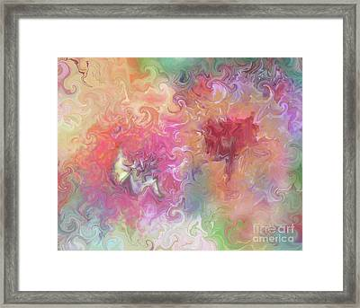 The Dragon And The Faerie Framed Print by Roxy Riou