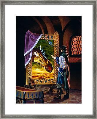 The Dragon Mirror Framed Print by Richard Hescox