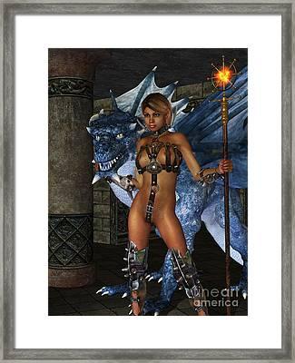 The Dragon Princess Framed Print by Alexander Butler