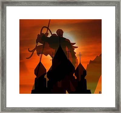 The Dragon Slayer Framed Print by David Lee Thompson