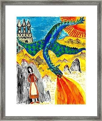 The Dragon Framed Print by Sushila Burgess