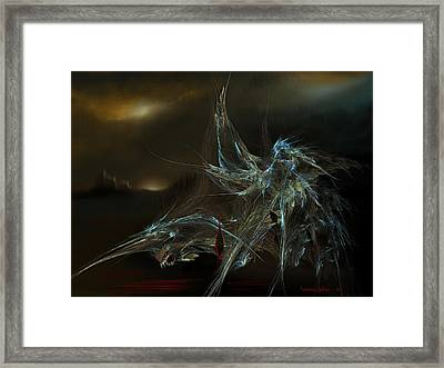 The Dragon Warrior Framed Print by Veronica Jackson