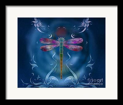 Metal Dragonfly Framed Prints