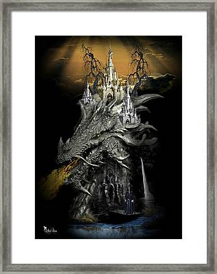 The Dragons Castle Framed Print by Ali Oppy