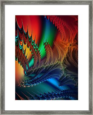 Framed Print featuring the digital art The Dragon's Den by Kathy Kelly