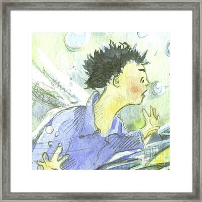 The Dragon's Gift Framed Print by Sarah Madsen