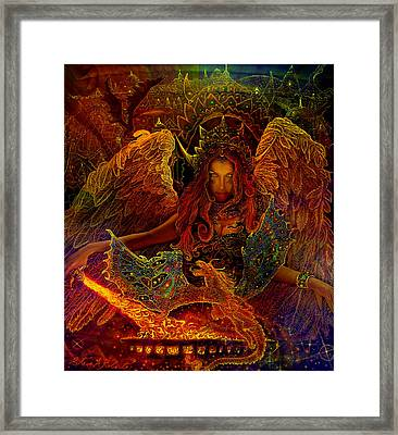 The Dragons Spell Framed Print