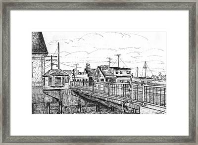 The Drawbridge As Seen From Pjs Framed Print