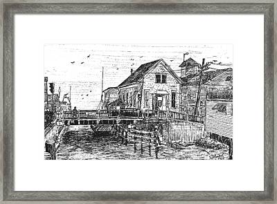 The Drawbridge Framed Print by Vic Delnore