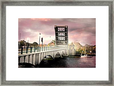 The Drawing Bridge Framed Print by Diana Angstadt