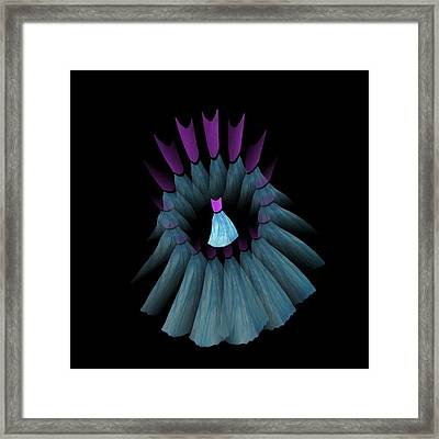 The Dream Circle Of Wise Women - Turquoise And Purple Framed Print by Jacqueline Migell