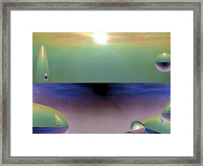 The Dream Of A Pebble Framed Print