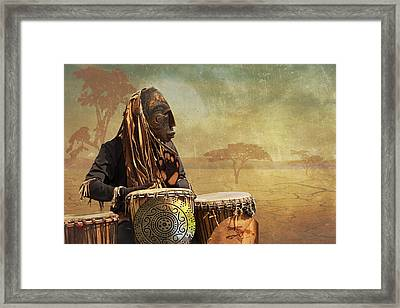 The Dream Of His Drums Framed Print