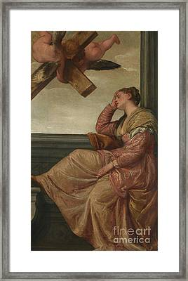 The Dream Of Saint Helena Framed Print by Veronese