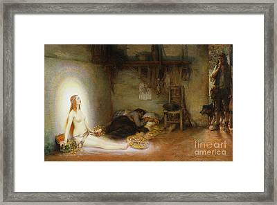 The Dream Framed Print by Pierre Justin Ouvrie