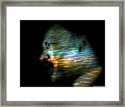 The Dream Still Ripples Framed Print by Ellen Cannon