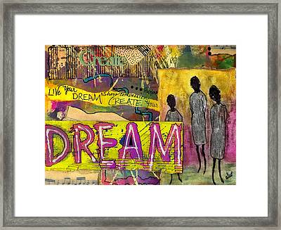 The Dream Trio Framed Print by Angela L Walker