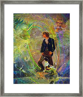 Framed Print featuring the painting The Dreamer-angel Tarot Card by Steve Roberts