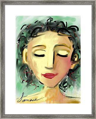 Framed Print featuring the digital art The Dreamer by Elaine Lanoue