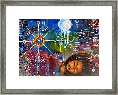 Framed Print featuring the painting The Dreamer by Prerna Poojara