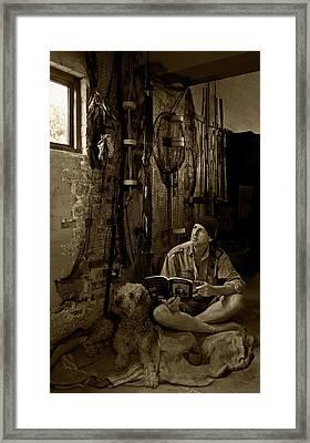 The Dreaming Fisherman Framed Print by Basie Van Zyl