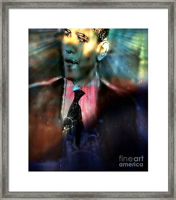 The Dreams Of Obama Framed Print by Wbk