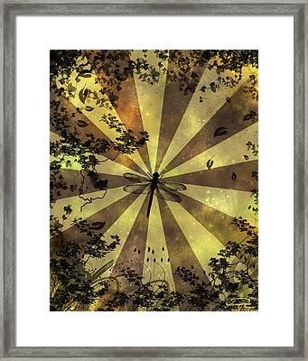 The Dreams Of The Dragonflies Framed Print by Emma Alvarez