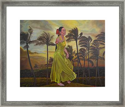 The Green Dress Framed Print