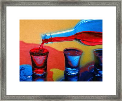 The Drink That Inspires You Ode To Addiction Framed Print by Tony Rubino