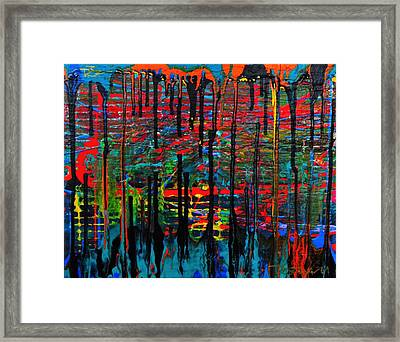 The Drip Framed Print