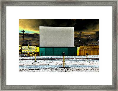 The Drive In Framed Print by David Lee Thompson