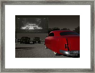 The Drive-in Framed Print by Dennis Hedberg
